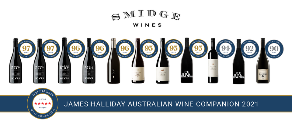 Smidge Wines win 8 gold medals in Halliday Australian Wine Companion 2021